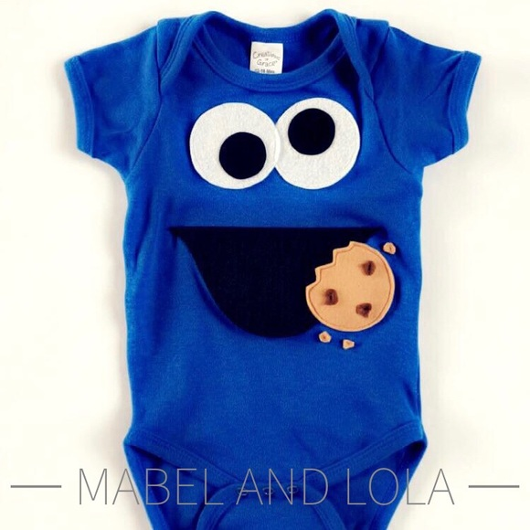 24ff9569313f Cookie Monster Onesie Sizes 0-3mo up to 12-18mo